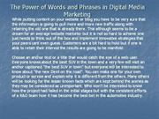 The Power of Words and Phrases in Digital Media Marketing