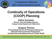 3. Continuity of Operations (COOP) Planning