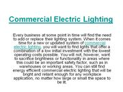 Commercial Electric Lighting