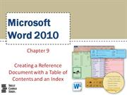Word Chapter 09
