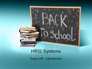 e-Learning Post Oct 5 HRIS Systems