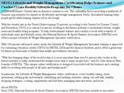 nesta lifestyle and weight management certification helps trainers and