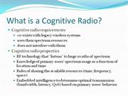What is a Cognitive Radio