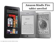 Amazon Kindle Fire tablet unveiled