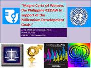 magna carta for women.cedaw and mdg