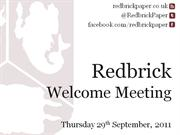 Welcome Meeting Slides
