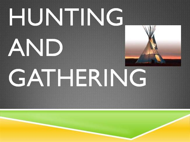 what is hunting and gathering society