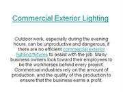 Commercial Exterior Lighting