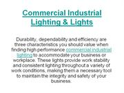 Commercial Industrial Lighting n Lights