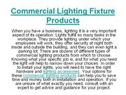 Commercial Lighting Fixture Products