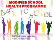 Modified School Health Programme ppt