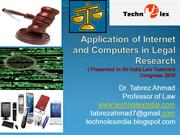 Application of Internet and Computers in Legal Research