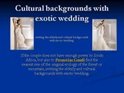cultural backgrounds with exotic wedding