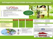Golf Kingdom Plots 9717155600 Golf Kingdom Yamuna Expressway