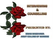 interview and counselling