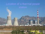 location on thermal power plant