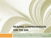 Reading Comprehension for the GRE