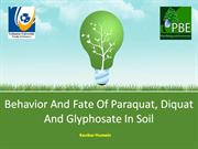 Behavior and fate of paraquat, diquat and glyphosate in soil