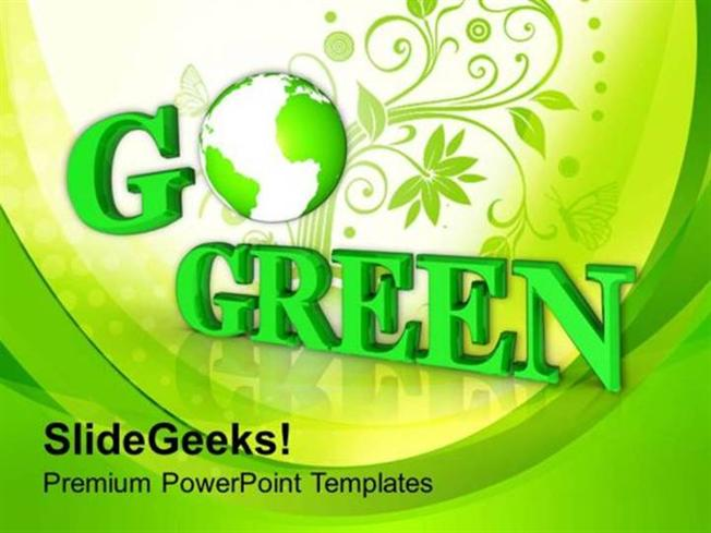nature go green environmental recycle concept ppt template