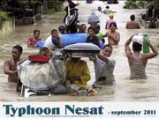 Typhoon Nalgae hits Asia - september 2011