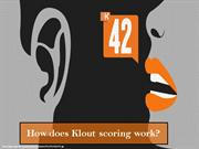 How does Klout scoring work?