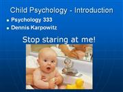 01 Child Psychology - Intrduction