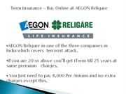 Term Insurance – Buy Online at AEGON Religare