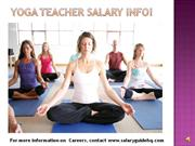 Yoga Teacher Salary