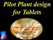 tablet pilot plant scale up