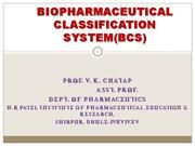 biopharmaceutical clasiification system