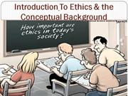 Introduction To Ethics unit 1