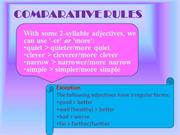 COMPARATIVE RULES