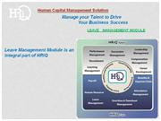 HRiQ Leave Management System