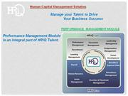 HRiQ Performance Management System