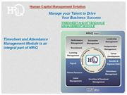 HRiQ Timesheet and attendance Management System