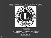 Ojai Valley Lions Club Movie Night in the Park