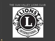 Ojai Valley Lions Club Movie- 2011