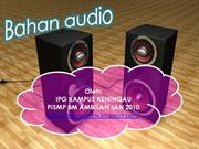 BAHAN AUDIO