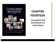 Schiffman Consumer Behavior Chapter 14 Diffusion and Adoption