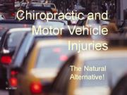 Chiropractic and Motor Vehicle Injuries