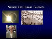 Natural Sciences and Human Sciences.