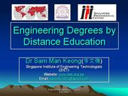 accredited engineering degrees by distance learning