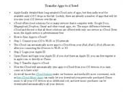 Transfer Apps to iCloud