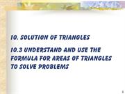 Add Maths Paper 2 Section C  : Chapter 10: Solution of Triangles (2)