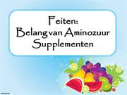 Het belang van Amino Acid Supplementen