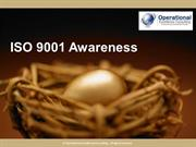 ISO 9001 Awareness by Allan Ung, Operational Excellence Consulting