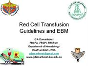 Red cell transfusion EBM 2