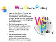 Wise Choice Printing Powerpoint