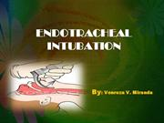 endotracheal intubation basic