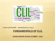 FUNDAMENTALS OF CLIL